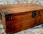 XXL Chest Dungeons and Dragons Chest with metal D20 DnD Dice Box