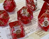 Necromancer skull blood dice Polyhedral Dice for RPG Games like Dungeons and Dragons and Pathfinder. DnD Gifts RPG Gift