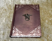 A5 Notebook Journal Dungeons and Dragons Dragon Embossed Foil Shimmer Metallic for Dnd and Pathfinder Notes