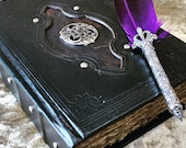 A5 Celtic Trinity Knot Tome Book of Shadows BOS Notebook Journal with deckled parchment Dungeons and Dragons for witchcraft