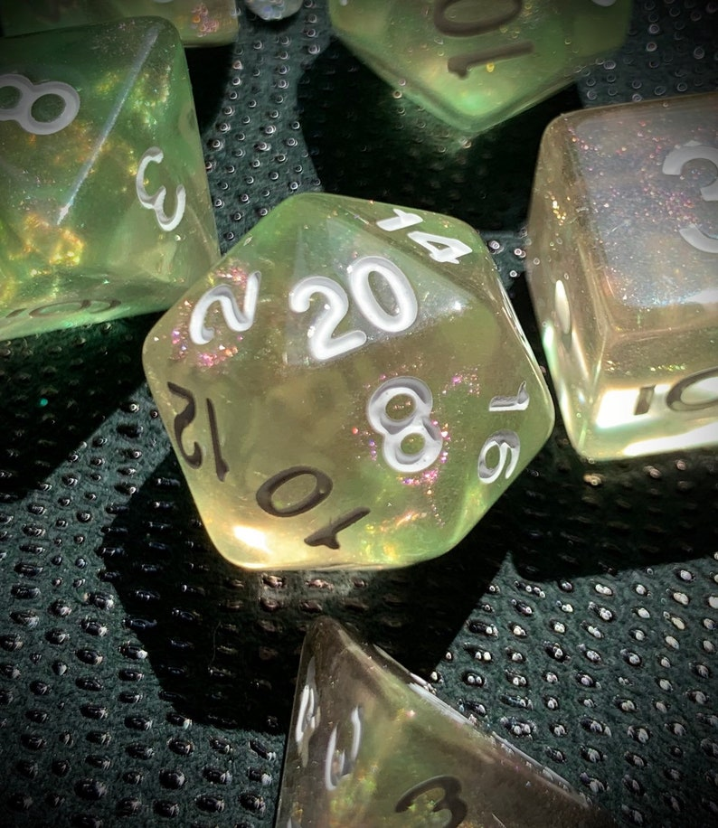 Enchantment Polyhedral Dice for RPG Games like Dungeons and image 0