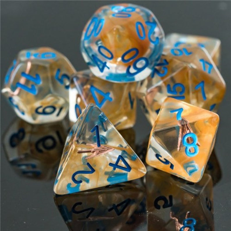 Sharp Shooter Ranger Class Polyhedral Dice for RPG Games like image 0