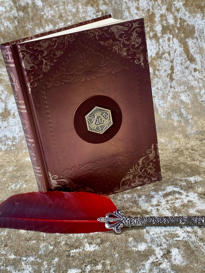 Notebook Journal for Dungeons and Dragons D20 Embossed Foil image 0