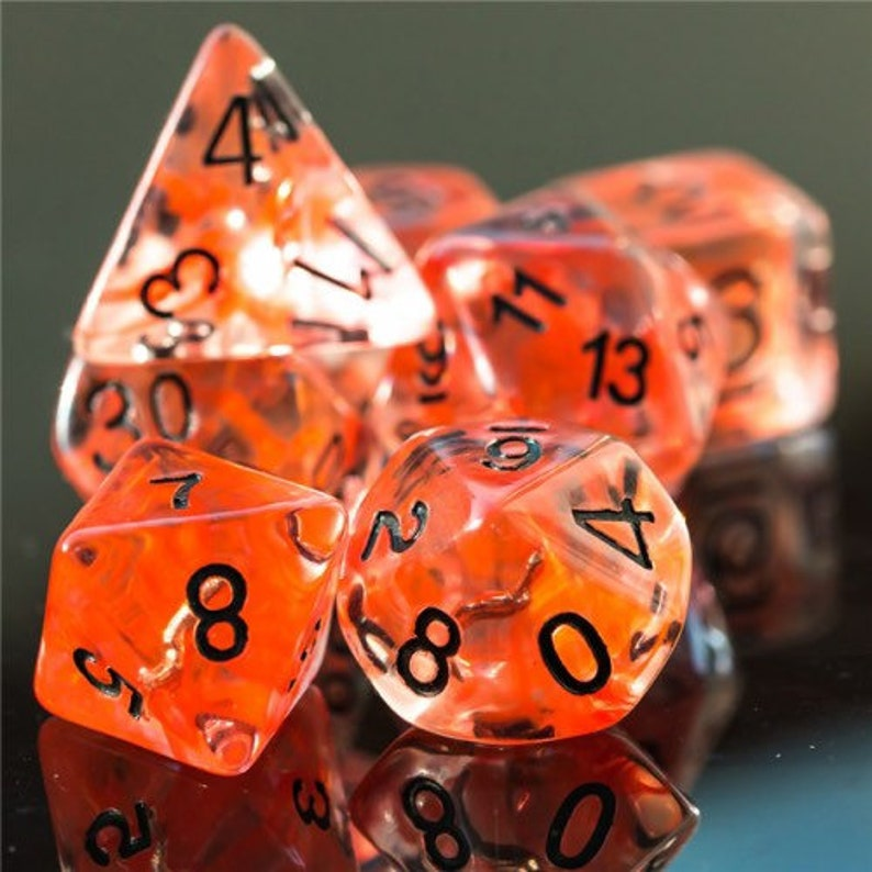 Sneak attack Rogue Class Polyhedral Dice for RPG Games like image 0
