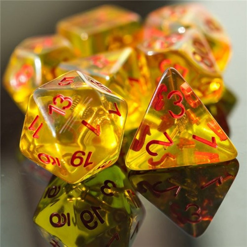Barbaric Rage Barbarian Class Polyhedral Dice for RPG Games image 0