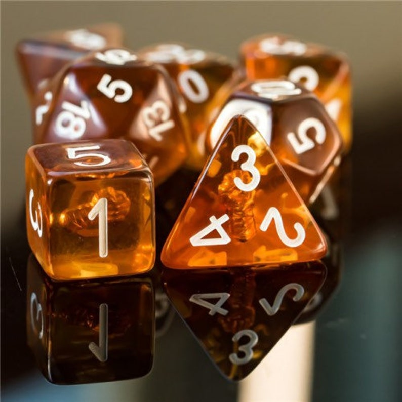 Flurry of Blows Monk Class Polyhedral Dice for RPG Games like image 0
