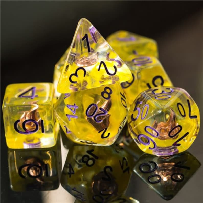 Empowered Sorcerer Class Polyhedral Dice for RPG Games like image 0
