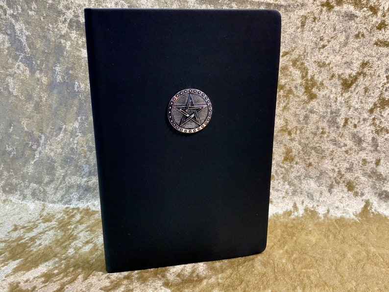 A5 Pentacle Wiccan Gothic Notebook Journal for Dungeons and image 0