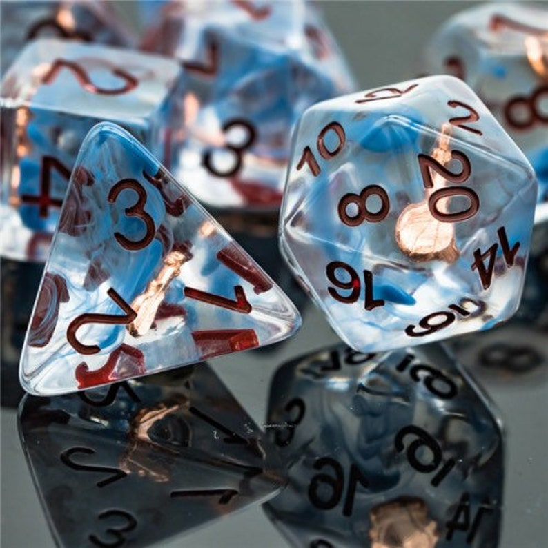 Bardic Inspiration Bard Class Polyhedral Dice for RPG Games image 0