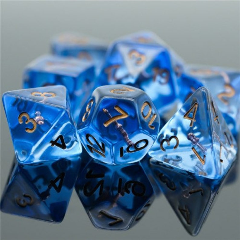 Wand of War Mage Polyhedral Class Dice for RPG Games like image 0