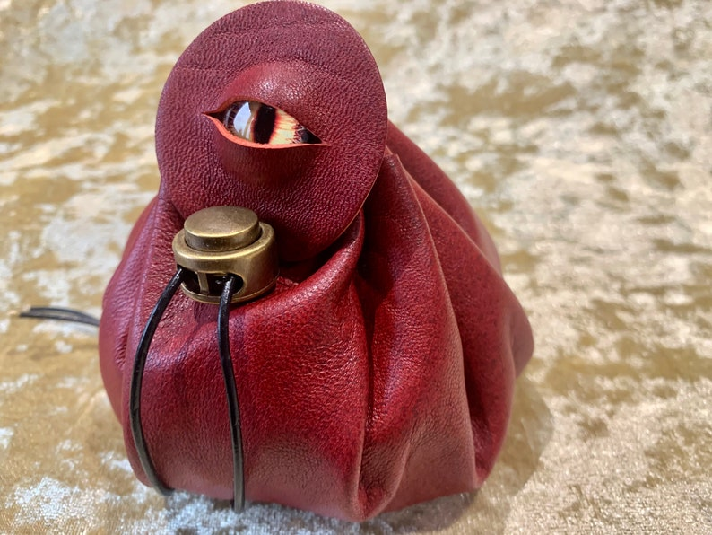 Dungeons and Dragons Leather Regular Dice Bag DnD Dicebag Coin image 0