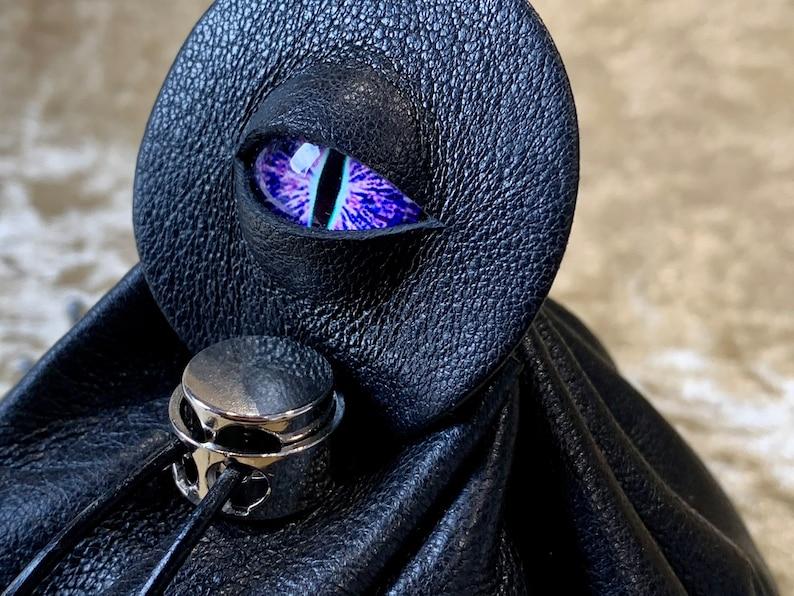 Dice Bag Dungeons and Dragons Leather Regular  DnD Dicebag image 0