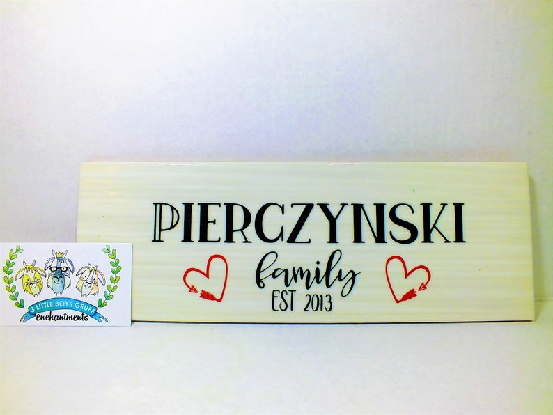 Personalized Family Nameplate  Wedding Gift for The Couple image 0