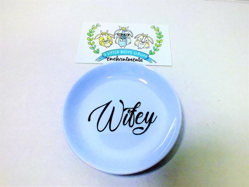 Wifey Organizing Dish Ring engagement wedding diamond wife image 0