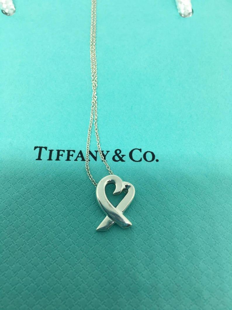 0f94c5bea9d Tiffany and Co. Paloma Picasso® Loving Heart Necklace 925 | Etsy