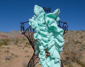 Ruffle Soft-Green Color Scarf