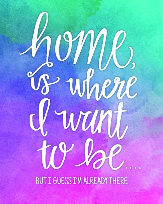 Talking Heads Home Is Where I Want To Be Print Etsy