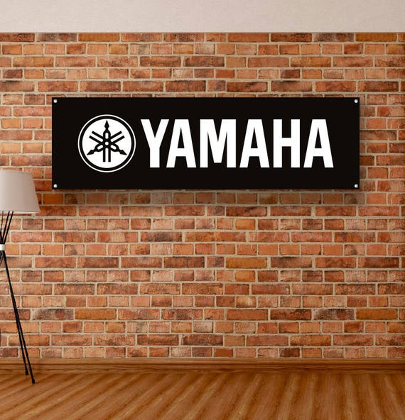 Yamaha Logo Racing Motorcycle Motorbike Sign Garage Workshop Banner Display R