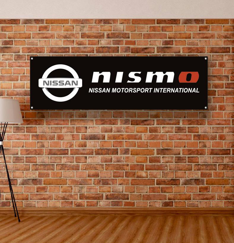 nissan nismo vinyl banner garage poster workshop adversting etsy. Black Bedroom Furniture Sets. Home Design Ideas