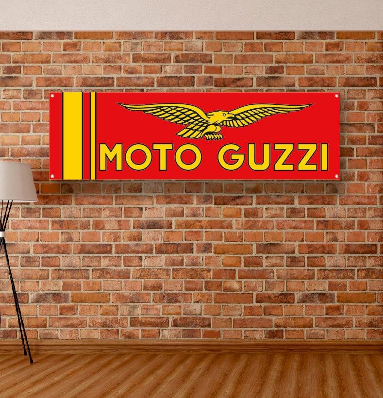 MOTO GUZZI Vinyl Banner Garage Poster Workshop Adversting