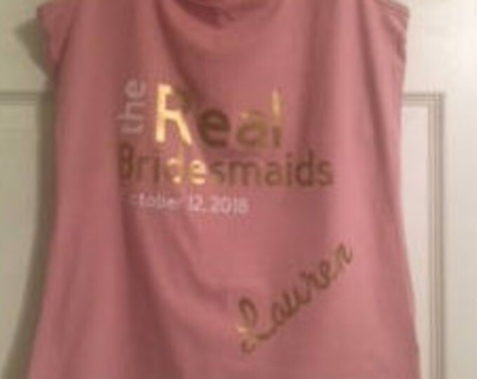 Customized Bridesmaids Tank Tops