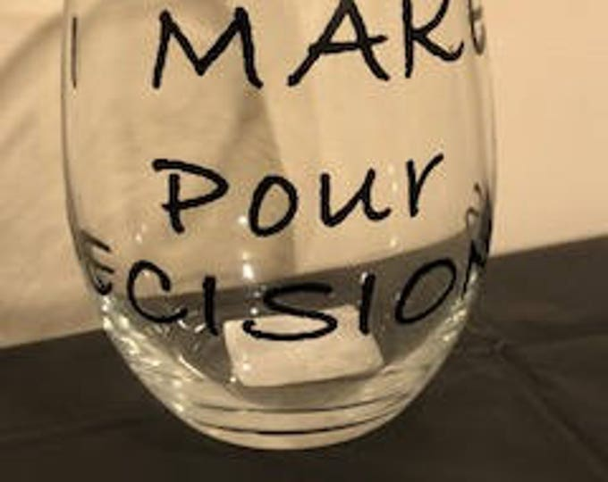 personalized stemless wineglass