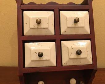 Wood and Stone Storage Drawers