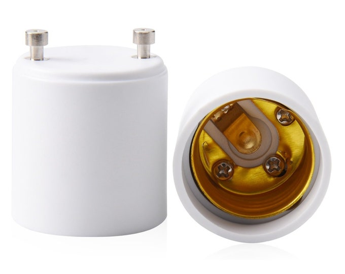 GU24 to E26 E27 Adapter for LED Bulb, Converts your Pin Base Fixture to Standard Screw-in Lamp Socket