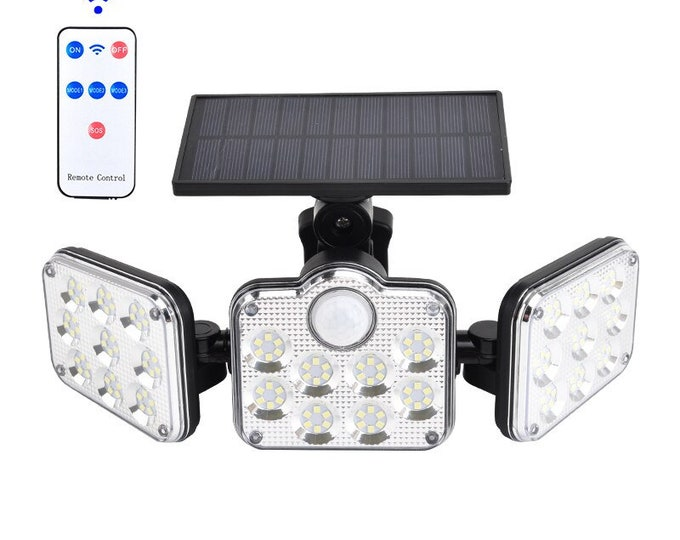 Outdoor Solar Light with Motion Sensor, LED Security Lights, 138 led, 3 Adjustable Head Waterproof Wireless Wall Lights