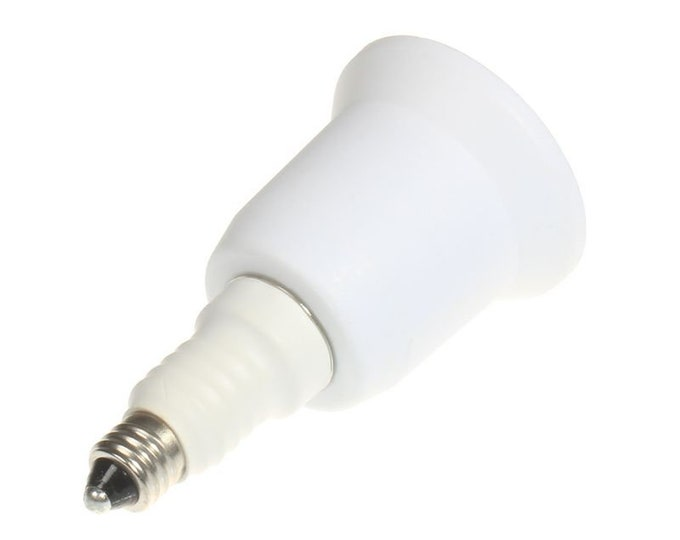 E11 to E26/E27 Adapter - Mini Candelabra Socket E11 to Standard E26/E27 Edison Screw Medium Socket Adapter Converter