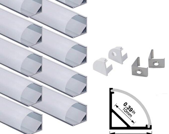 3.3ft/1Meter V Shape Aluminum Channel Profile for ALL LED Strip Light Installation