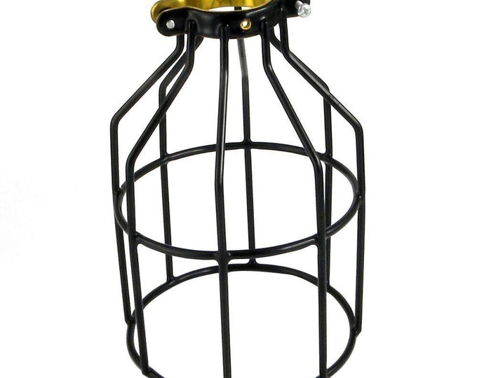 Adjustable Industrial Vintage Style Metal Lamp Guard Shade Cage