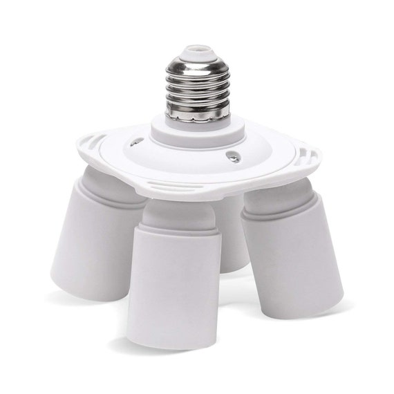 1 to 4 E27 Chandelier Lamp Holder Socket Adapter Base 4 in 1 E27 LED Splitter Converter