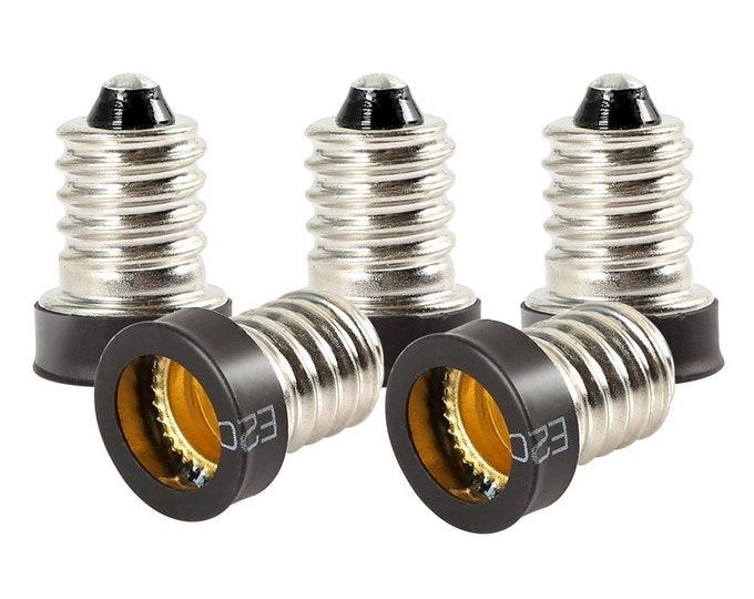 E14 to E12 Adapter European Base (E14) to Candelabra Screw (E12) Socket Converter Reducer