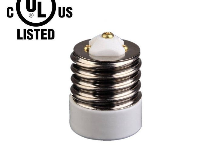 4TVJ New UL-listed Mogul (E39) to Medium (E26/E27) Light Bulb Lamp Socket Porcelain Adapter Converter Reducer …