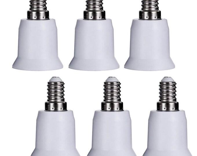 E14 European Base to E26/E27 Medium Edison Base Light Lamp Sockets Adapter Converter