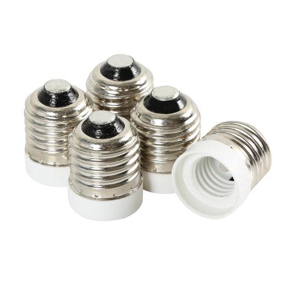 UL-Listed E26//E27 to E17 Socket Adapter,Medium Screw to Intermediate Socket Light Bulb Socket Adapter Converter Reducer E17 12 Pack Yi Lighting