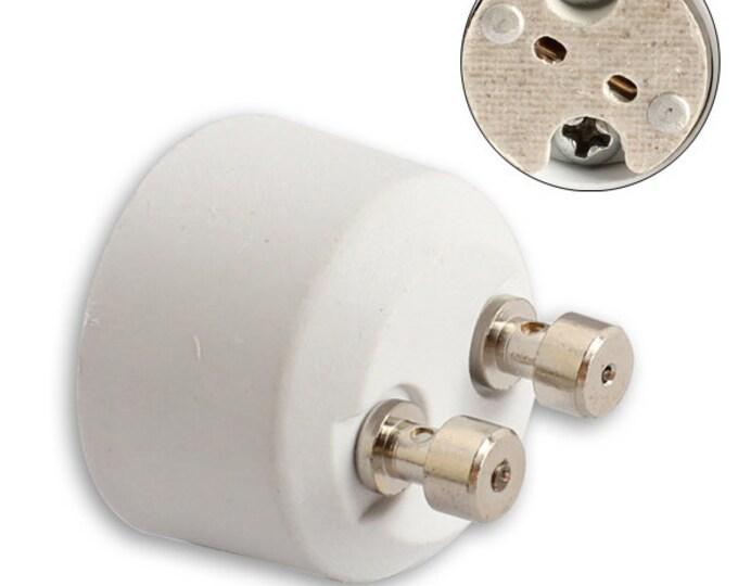 GU10 Bayonet Base Socket to Mini Bi-Pin MR16 GU5.3 G4 Socket Base Adapter Converter Holder For LED CFL Halogen Lights