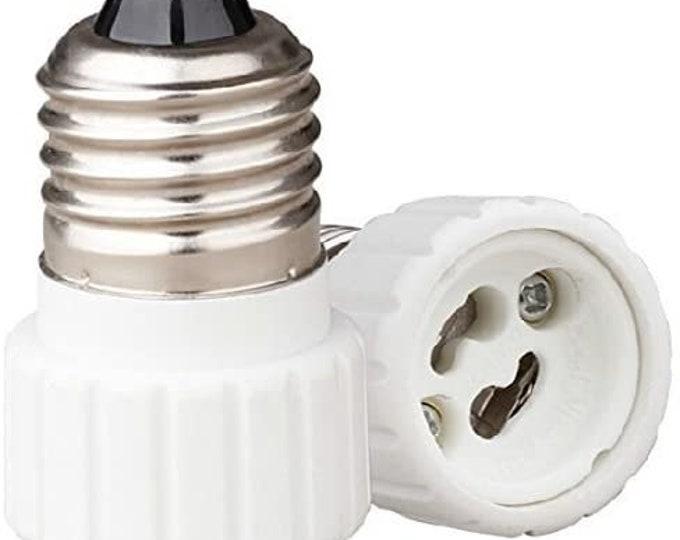 E26/E27 to GU10, E26/E27 Edison Screw to GU10 Bayonet Base Socket Adapter Converter