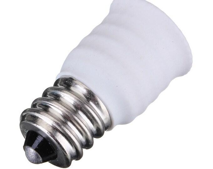E12 to E14 Adapter, Candelabra Screw (E12) to Small Edison European Screw (E14) Socket Converter Reducer