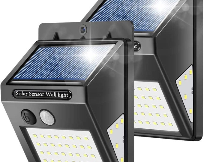 Outdoor Solar Wall Lights with 40LED Waterproof Motion Sensor Security Lights for Garden, Wall, Yard, Garage, Deck