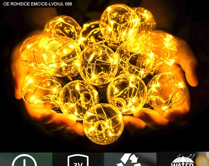 4pcs G40 LED Light bulb Low Voltage for 38FT String Light Replacement ONLY