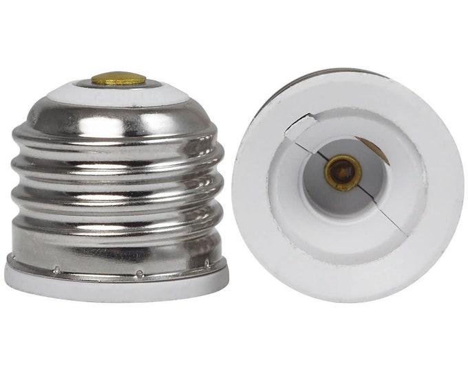 Standard Medium E26/E27 Screw Socket to Mini Candelabra E11 Socket Lamp Adapter Converter Reducer