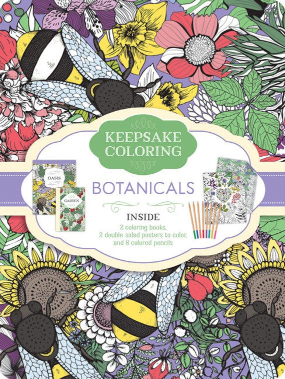 botanicals a keepsake coloing tin keepsake coloring