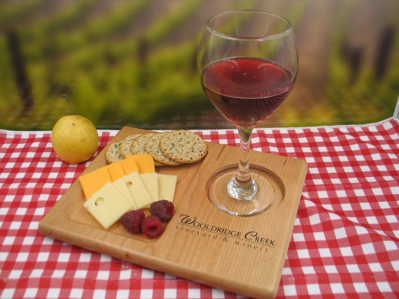 Personalized Wine Serving Tray  image 0
