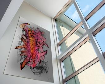 Modern Abstract Graffiti Art 'Structura #20'