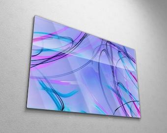 Vivid Abstract Wall Art, Large Original Modern Art Painting