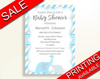 Elephant Invitations Baby Shower