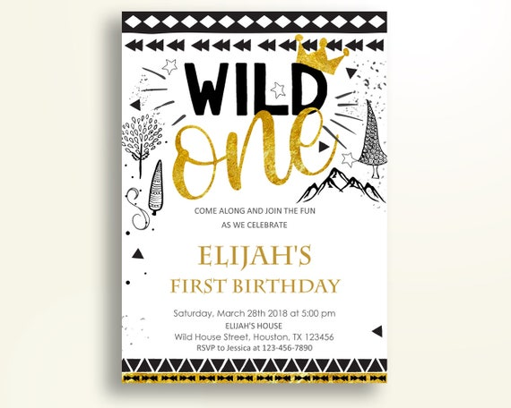 Wild One Birthday Invitation Party