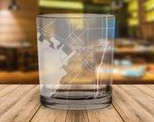 Bellingham Washington City Map Whiskey Glass Gift